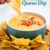 Easy Queso Recipe and Queso Cheese Dip Appetizer Recipe   BestRecipeBox.com