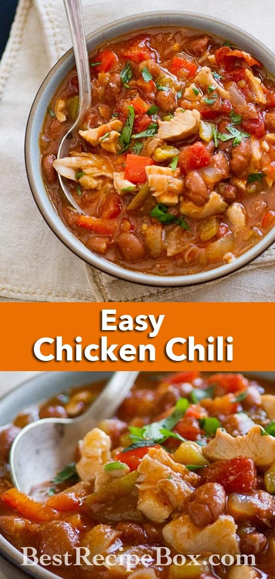 Roast Chicken Chili Recipe that's easy and super delicious | @bestrecipebox