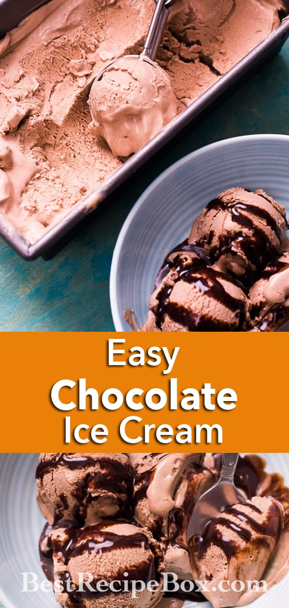 No Churn Easy Chocolate Ice Cream Recipe with just 3 Ingredients | @bestrecipebox