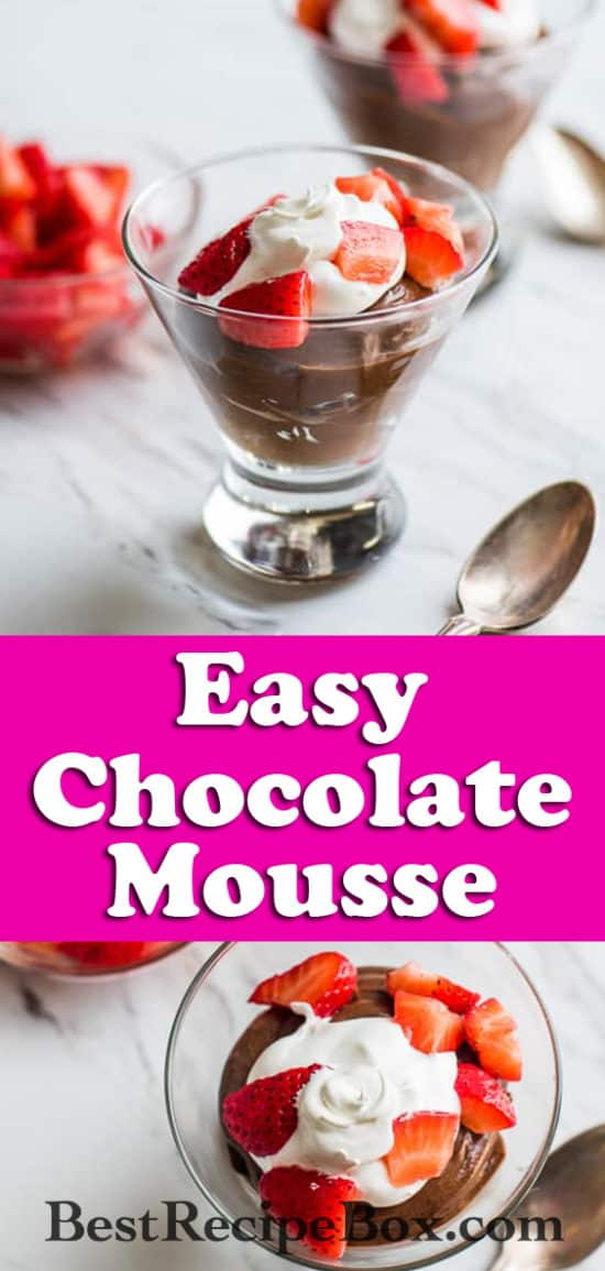Super Easy and Creamy Chocolate Mousse Recipe | @bestrecipebox