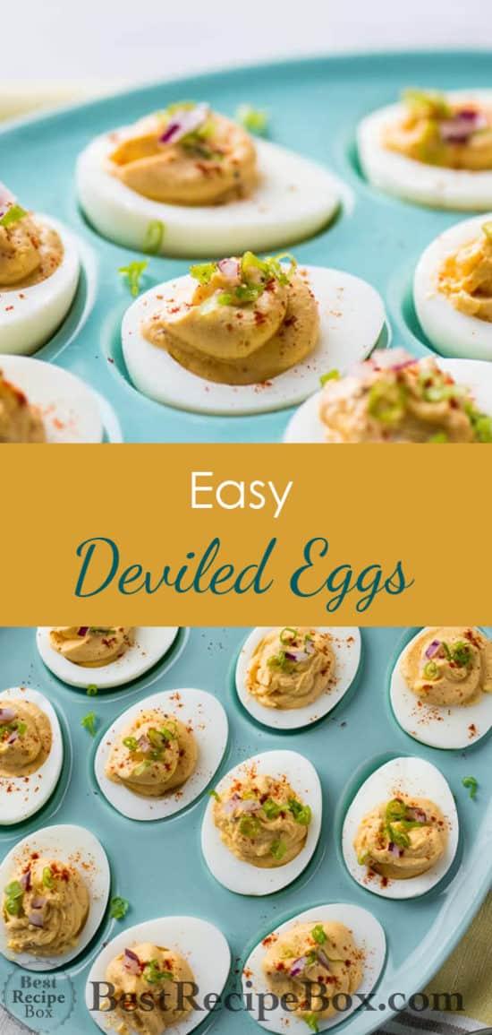 Easy Deviled Eggs and Best Easter Deviled Egg Recipe | @bestrecipebox