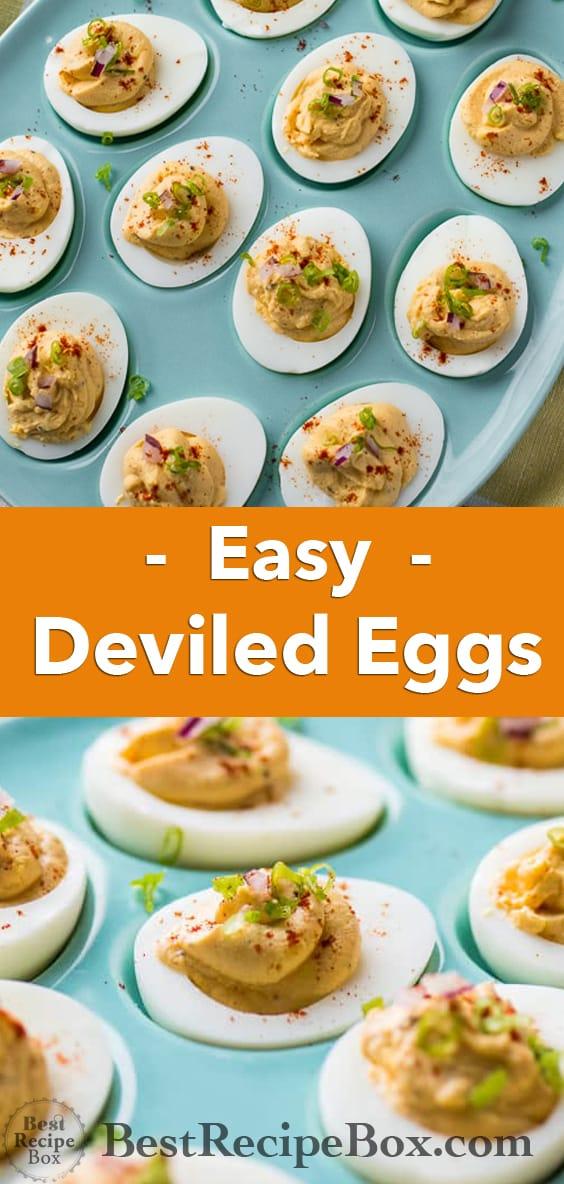 Easy Deviled Eggs and Best Easter Deviled Egg Recipe   @bestrecipebox