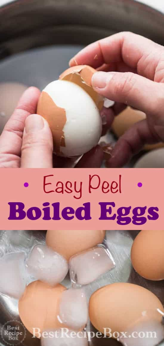 How To Easy Peel Hard Boiled Eggs | @ bestrecipebox