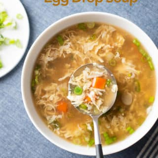 Easy Classic Chinese Egg Drop Soup Recipe Low carb | @bestrecipebox