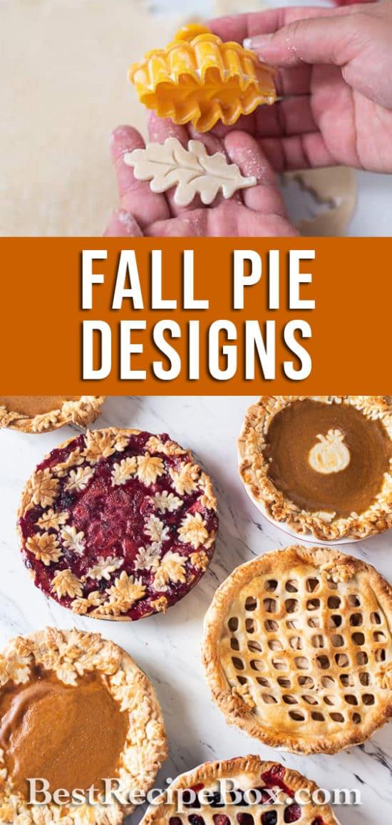 Fall Pie Designs For Autumn Thanksgiving Pie Leaf Designs @bestrecipebox