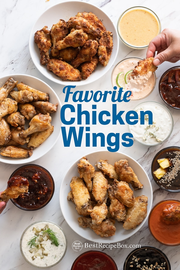Best Chicken Wing Recipes and Buffalo Wing Recipe | @bestrecipebox