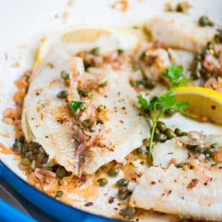 Healthy White Fish with Lemon and Capers