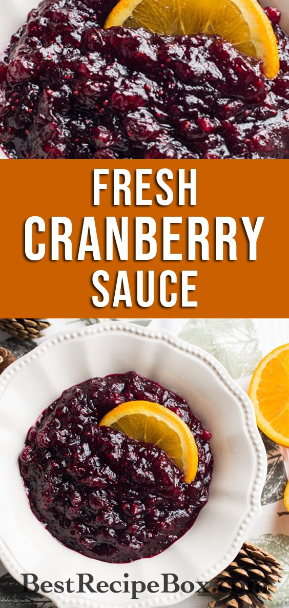 Fresh Cranberry Sauce Recipe | @bestrecipebox