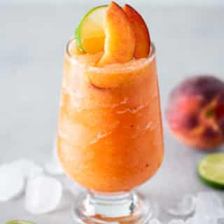 Frozen Peach Margaritas Recipe Blended | BestRecipeBox.com