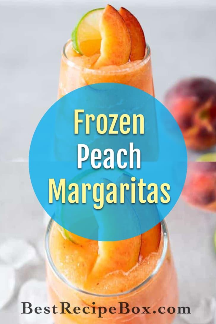 Frozen Peach Margaritas Recipe Blended   BestRecipeBox.com
