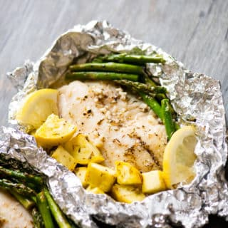 Foil Pack Garlic  Butter Tilapia or White Fish