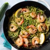Garlic Shrimp Zucchini Noodles Recipe @bestrecipebox