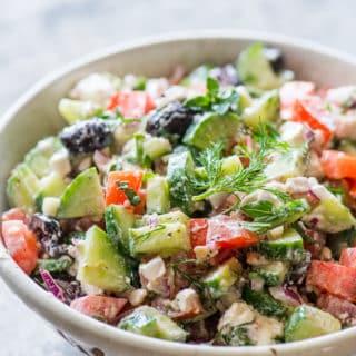 20 Minute Greek Salad that Everyone Loves!