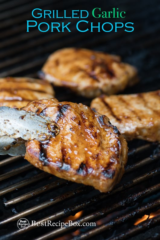 Grilled Pork Chop Recipe with Garlic Marinade BBQ Pork Chops | @bestrecipebox
