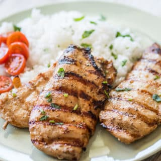 Grilled Asian Chicken Recipe on the BBQ Healthy Chicken Recipe | @bestrecipebox