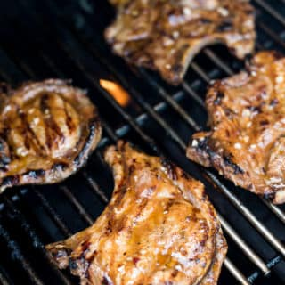 Grilled Asian Chili Garlic Pork Chops