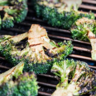 Grilled Garlic Broccoli with Cheddar Cheese