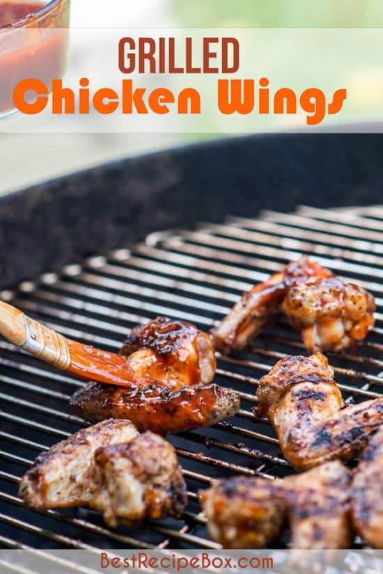 Grilled Chicken Wings Recipe on a grill