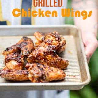 Grilled Chicken Wings Recipe with Sticky Asian Sauce for Super Bowl Game Day | @BestRecipeBox