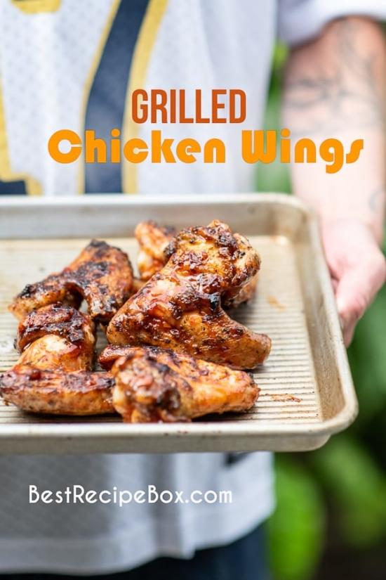 BBQ asian wings recipe on pan