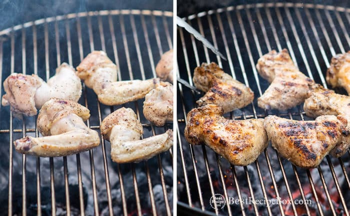Grilled Chicken Wings step by step no sauce