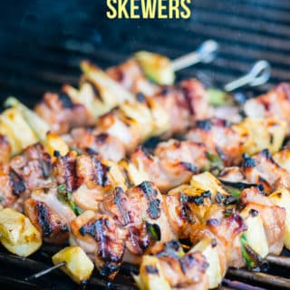 Chicken Teriyaki Skewers with Pineapple