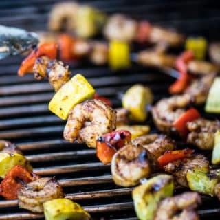 Grilled Chipotle Shrimp Skewers with Veggies