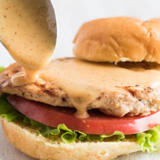 Grilled Chicken Sandwich with Honey Mustard Sauce