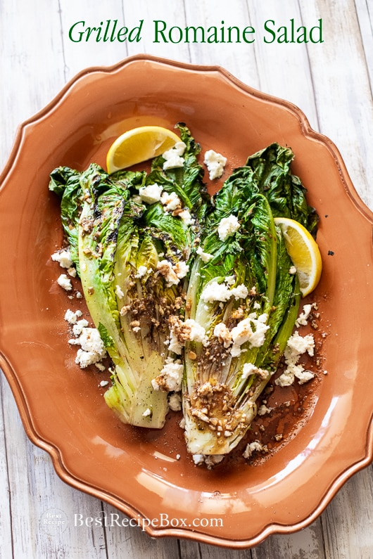 Grilled Romaine Salad Recipe for the Best Summer Salad Romaine Recipe in a plate