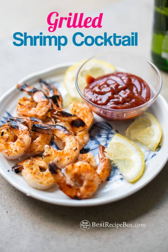 Grilled seafood Recipe on plate