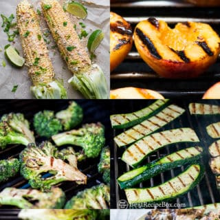 Vegetarian vegetables cooked on the grill or bbq