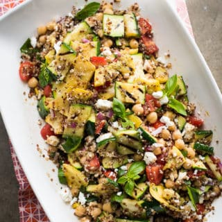 Vegetarian Grilled Zucchini and Quinoa Salad with Balsamic Lemon Vinaigrette
