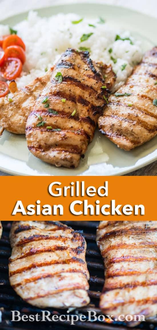 Grilled Asian Chicken Recipe on the BBQ Healthy Chicken Recipe   @bestrecipebox
