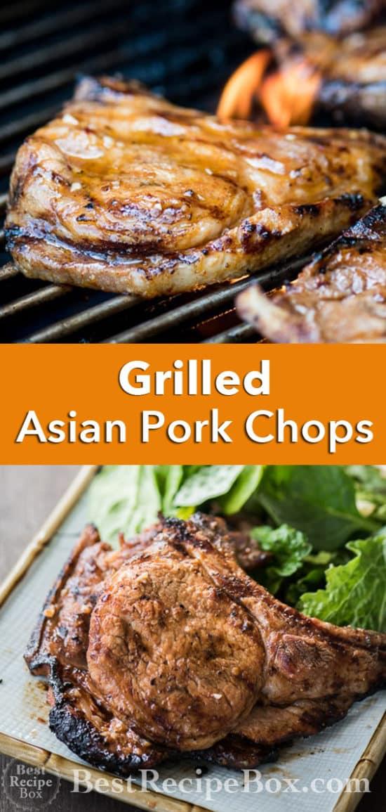Grilled Asian Chili Garlic Pork Chops Recipe BBQ Pork Chops | @bestrecipebox