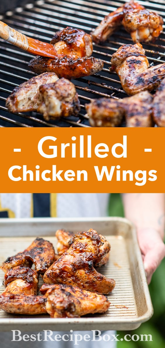 Grilled Chicken Wings Recipe for Super Bowl Game Day   @BestRecipeBox
