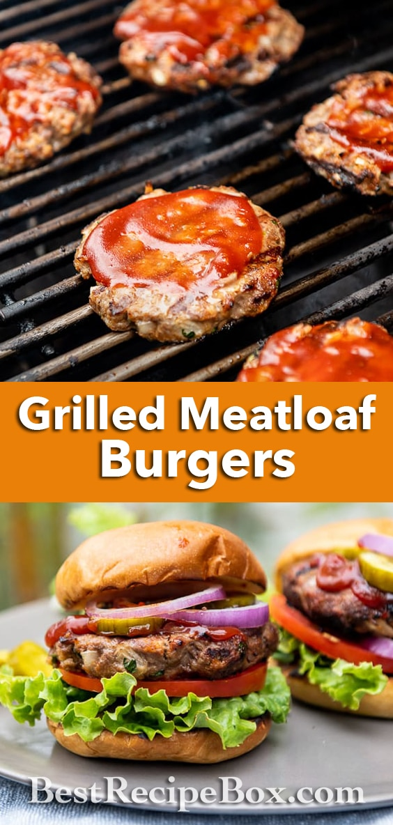 Grilled Meatloaf Burgers Recipe on the BBQ | BestRecipeBox.com