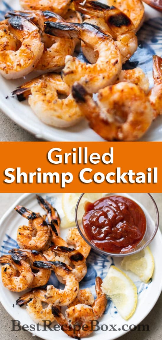 Grilled Shrimp Cocktail Recipe for Game Day and Appetizers | @BestRecipeBox