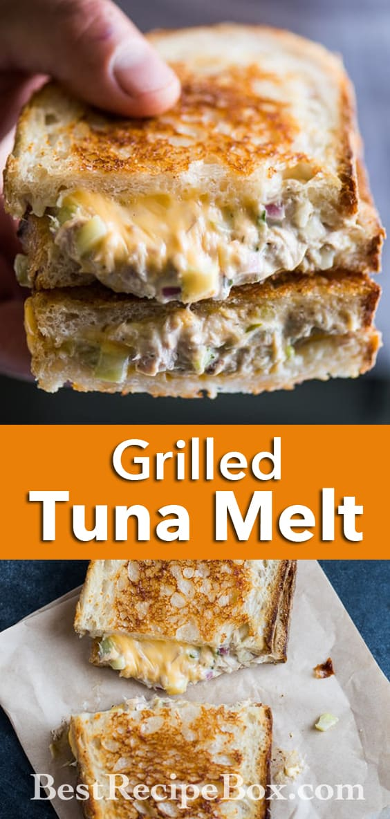 Best Tuna Melt Sandwich or Tuna Grilled Cheese Sandwich Recipe | @bestrecipebox