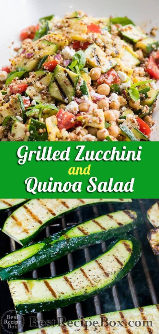 Vegetarian Grilled Zucchini Salad Recipe with Quinoa | @bestrecipebox