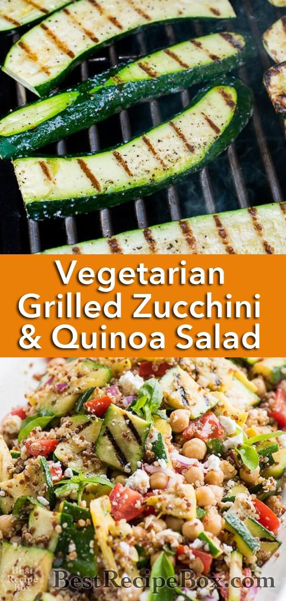 Vegetarian Grilled Zucchini Salad Recipe with Quinoa   @bestrecipebox
