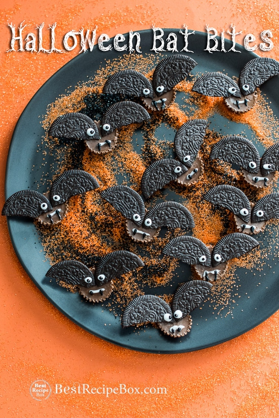 Halloween Bat Bites Recipe for Fun Kids Treat! | @bestrecipebox