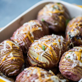 Crispy Hasselback Potatoes Recipe with Cheese Toppings | @bestrecipebox