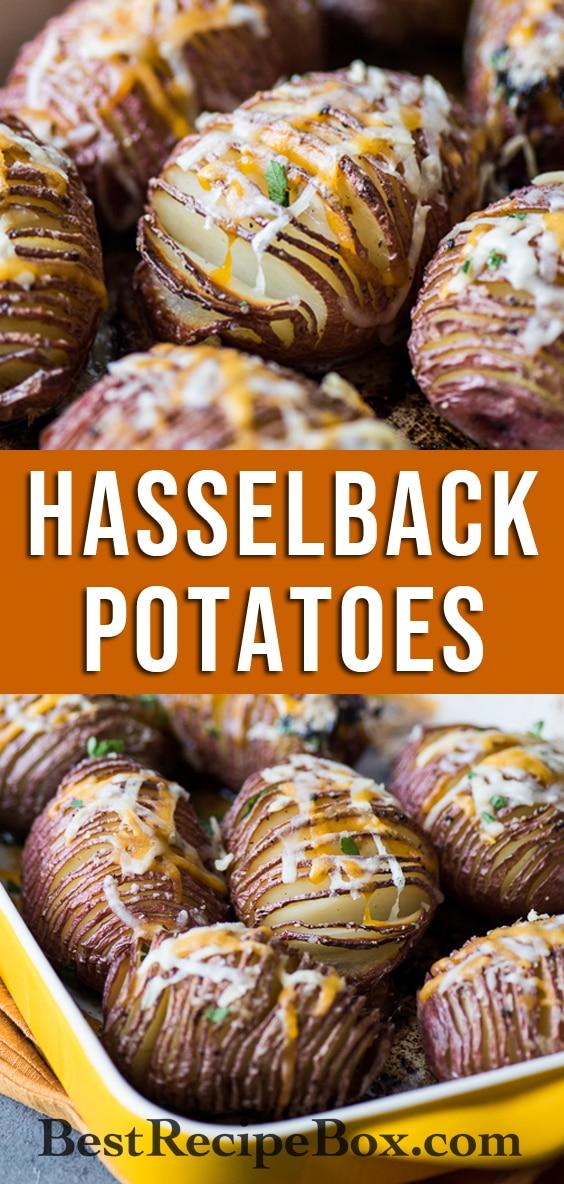 Crispy Hasselback Potatoes Recipe with Cheese Toppings | @bestrecipebox