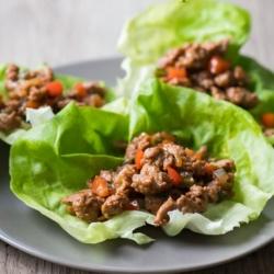 Healthy Turkey Lettuce Wraps or Chicken Lettuce Cups Recipe | @bestrecipebox