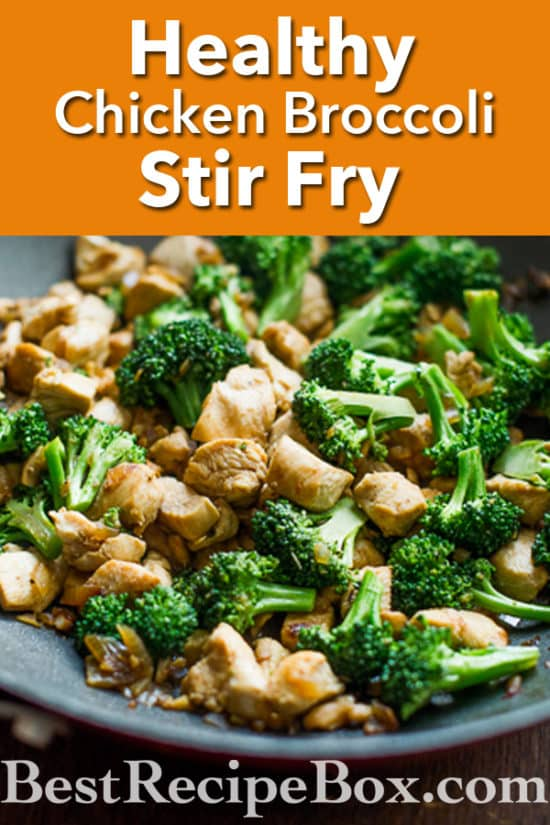 Low Fat Chicken Broccoli Stir Fry Recipe | @bestrecipebox
