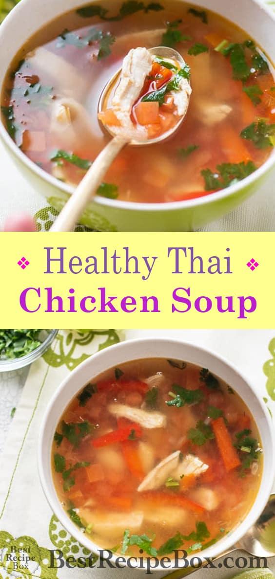 Thai Hot & Sour Chicken Soup Recipe | @BestRecipeBox