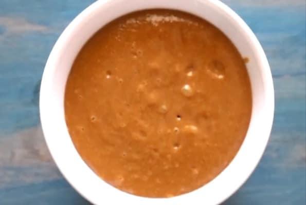 hoisin peanut dip in a bowl