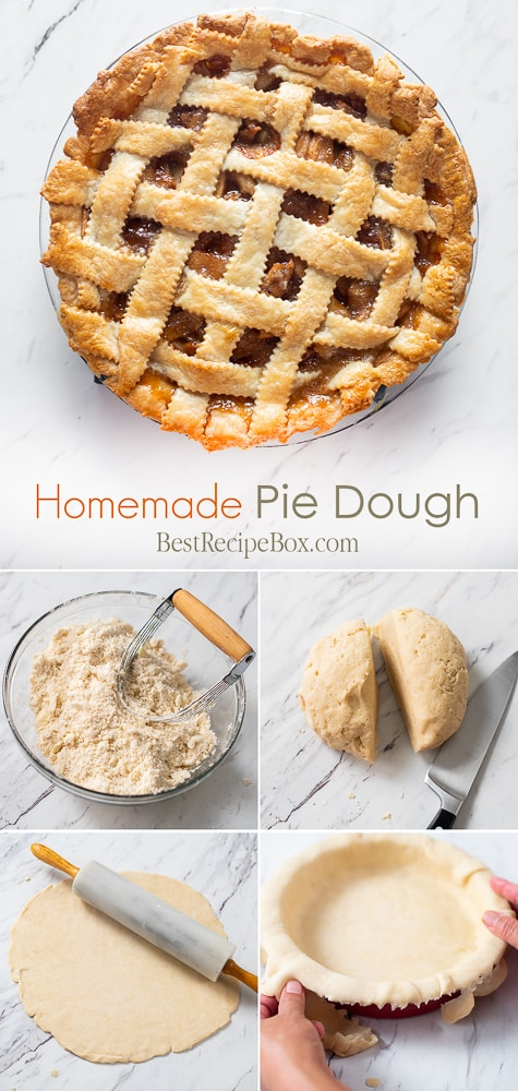 Homemade Pie Dough Recipe for Flakey Buttery Pie Dough @bestrecipebox