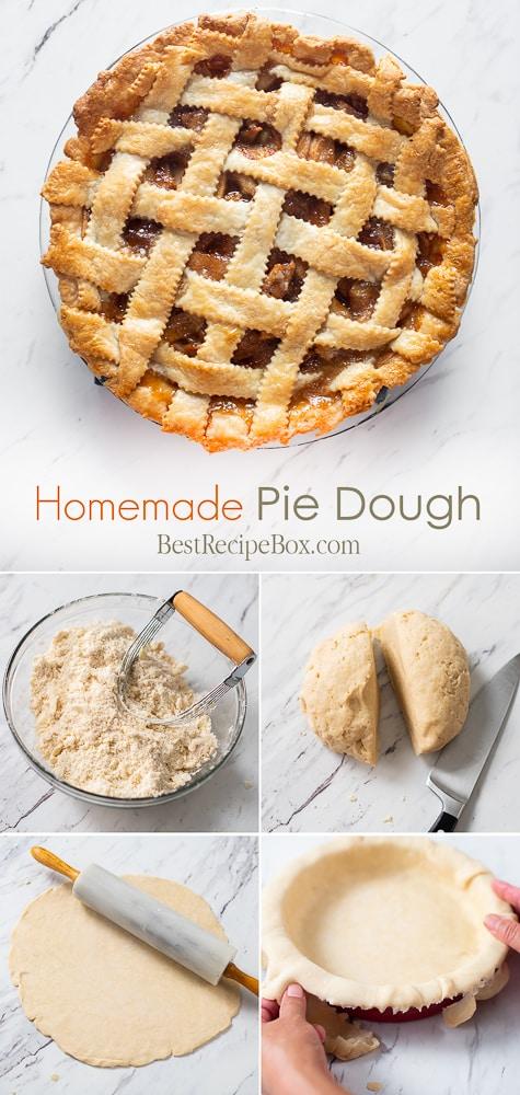 Homemade Pie Dough Recipe for Flakey Buttery Pie Dough step by step