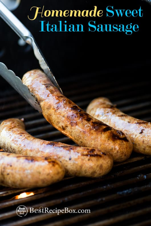 Homemade Sweet Italian Sausage Recipe for BBQ Grilling Sausage @bestrecipebox